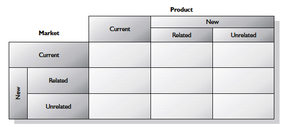 Expanded product/market matrix
