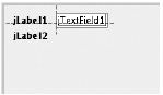 Finally, line up a password field with the label to the left and the text field above.