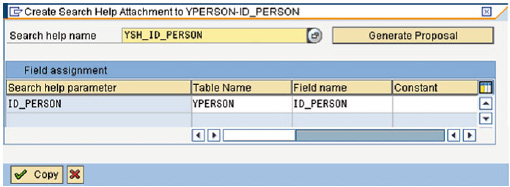 How to create search help attachment to the column ID_PERSON