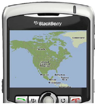 Invoking the default BlackBerry Maps view