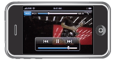 Media player interface with transport controls