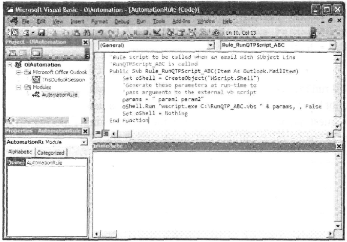 Launching QTP using an email trigger in QTP Tutorial pdf 30