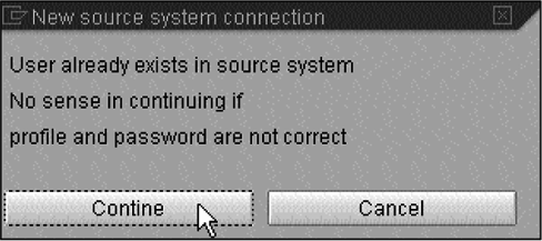 New source system connection
