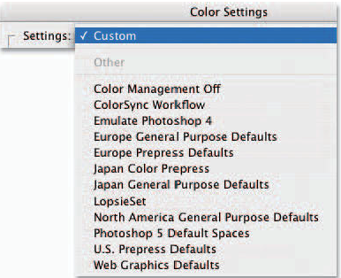 PC users notice that their pull-down menu does not have the ColorSync option
