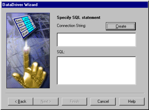 Specifying an SQL Statement