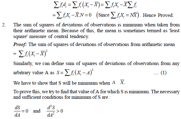 sum of squares of deviations of observations