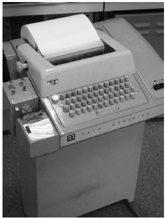 Teletype, including paper tape reader and printer