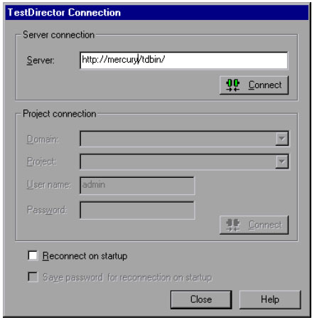 To connect WinRunner to TestDirector