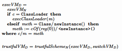 Trustful execution of JVMD instructions