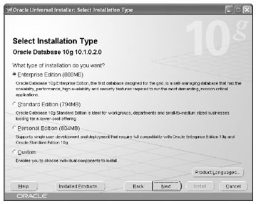 Using-the-Oracle-Universal-Installer