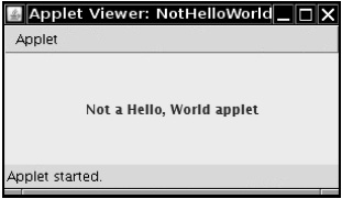 Viewing an applet in the applet viewer