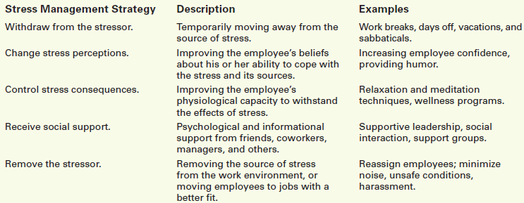 Workplace-Related Stress Management Practices