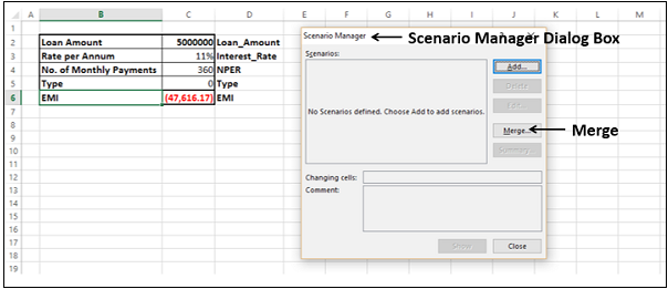 What-If Analysis with Scenario Manager
