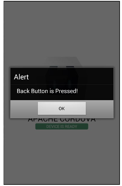 Cordova - Back Button