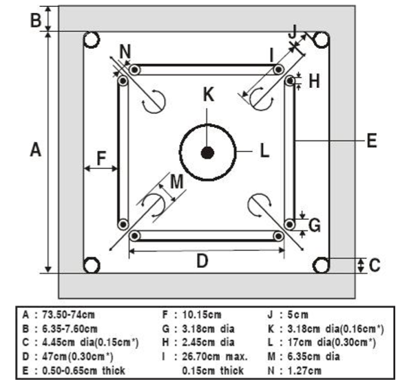 Dimensions of a Carrom Board