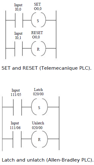 Set and reset set and reset in programmable logic controllers with an allen bradley plc the terms latch and unlatch are used figure shows the ladder diagram ccuart Gallery
