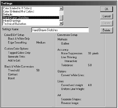 Streamline 4.0 hosts a wide range of presets in the Settings dialog.