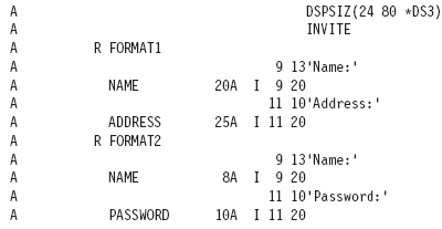 DDS Source for Name and Password Display