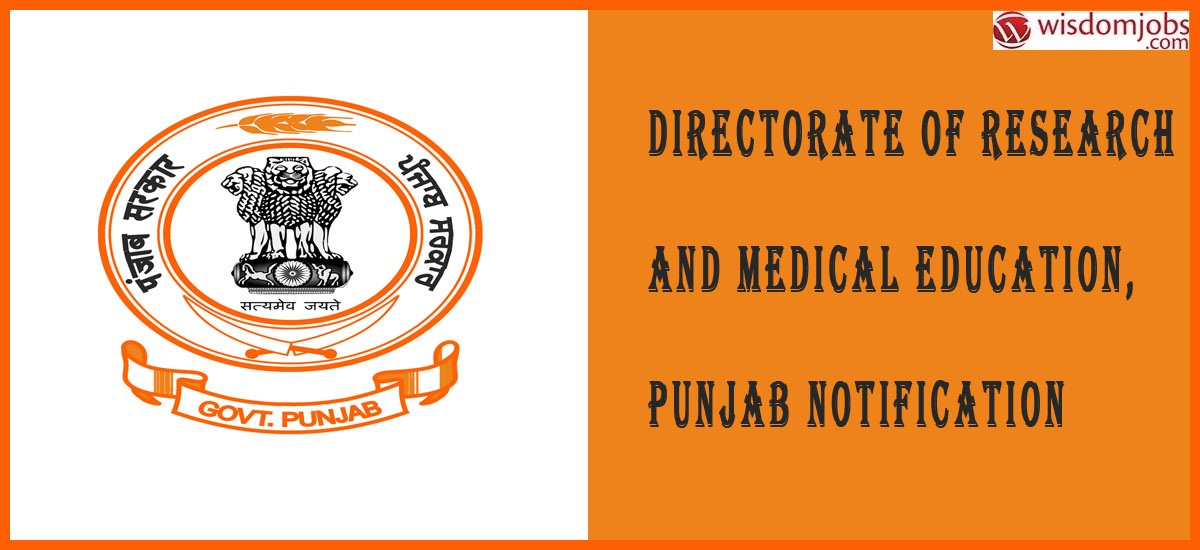 DME Punjab Notification 2019 – Openings for 40 Faculty Posts
