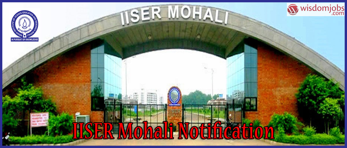IISER Mohali Recruitment - Library Professional Trainees Post
