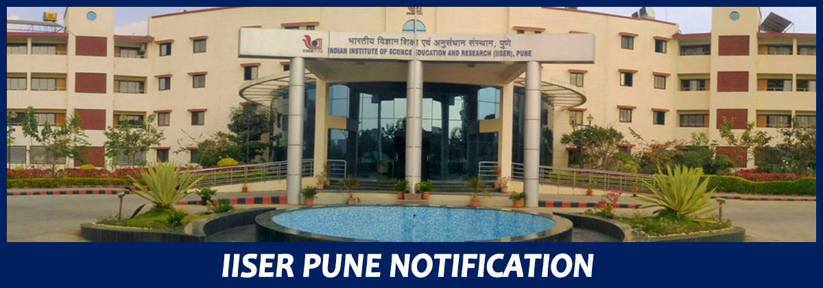 IISER Pune Jobs - Project Assistant / Project Fellow (JRF) Post