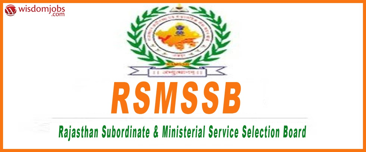 Rajasthan Staff Selection Board