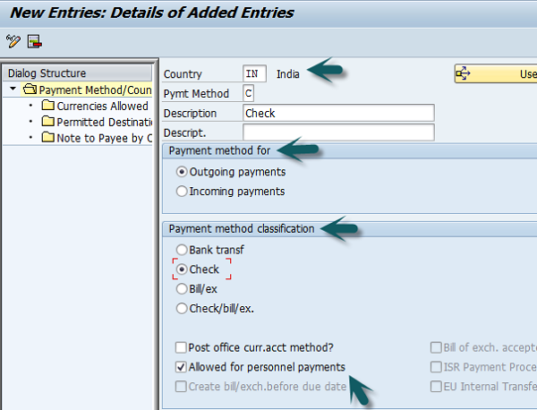 Payment Method Detail