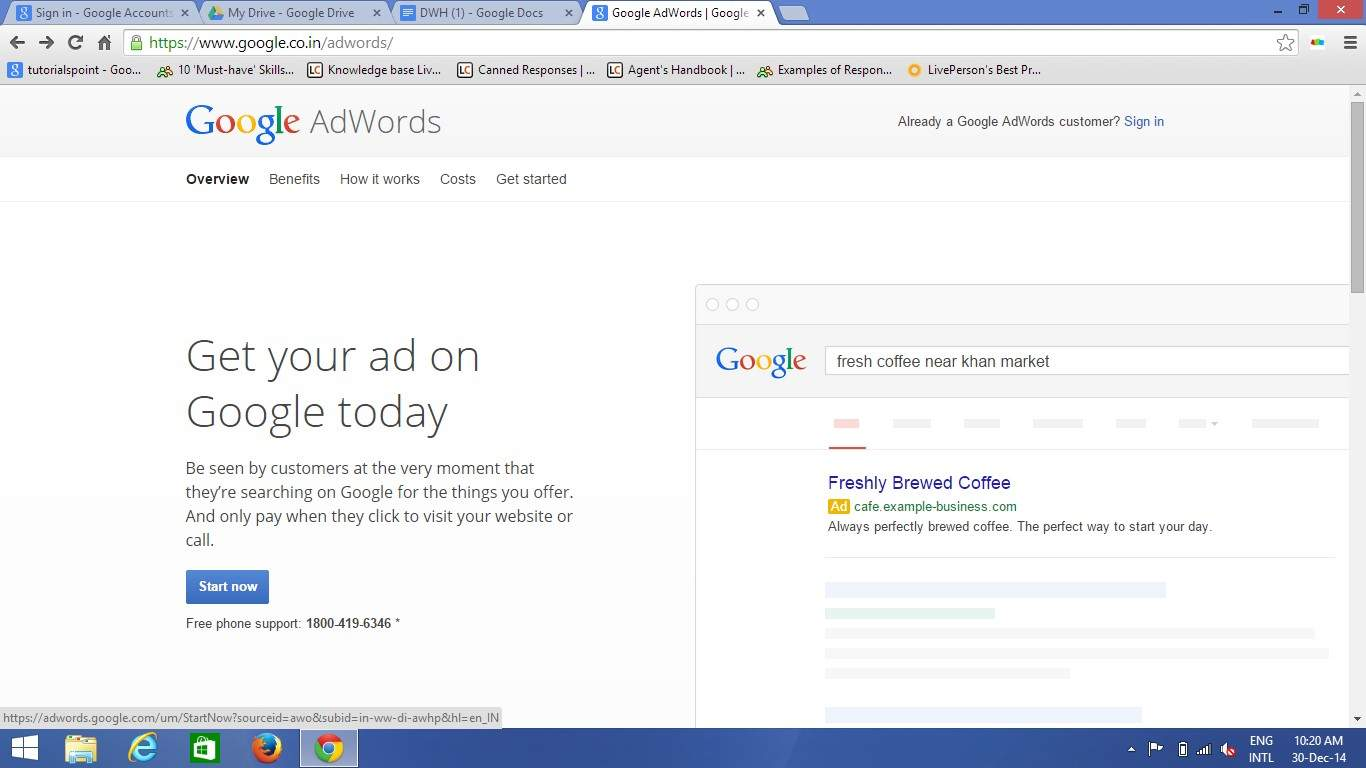 PPC Ad on Google in Pay Per Click (PPC) Tutorial pdf 17 05
