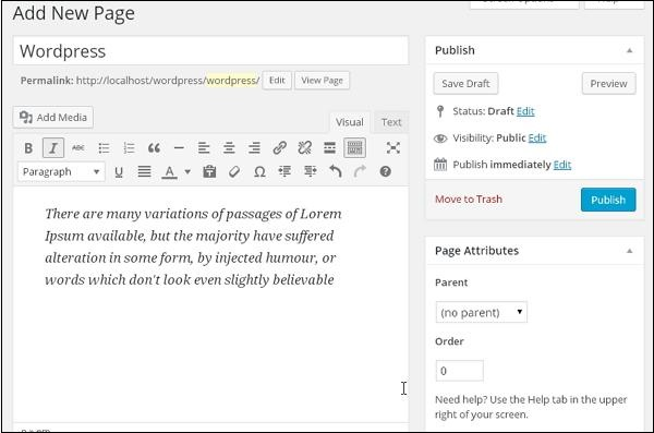 wordpress-publish-pages-step2
